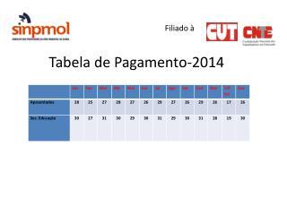 Filiado à Tabela de Pagamento-2014
