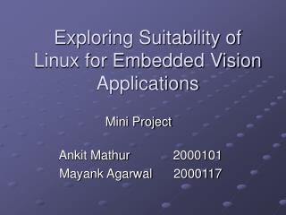 Exploring Suitability of Linux for Embedded Vision Applications