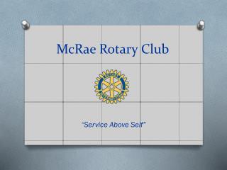 McRae Rotary Club