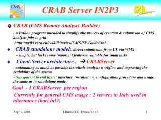 CRAB Server IN2P3