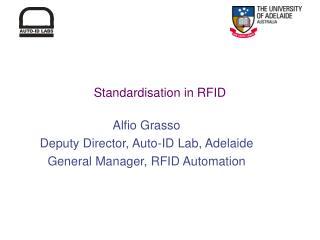 Standardisation in RFID