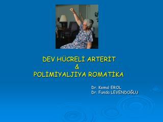 DEV HÜCRELİ ARTERİT  &     POLİMİYALJİYA ROMATİKA Dr. Kemal EROL  Dr. Funda LEVENDOĞLU