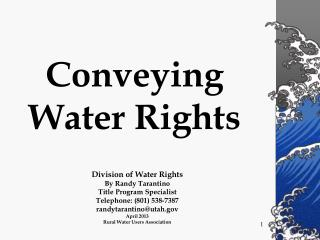 Conveying   Water Rights