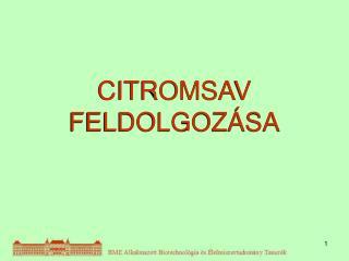 CITROMSAV FELDOLGOZÁSA