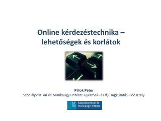 Online kérdezéstechnika –  lehetőségek és korlátok