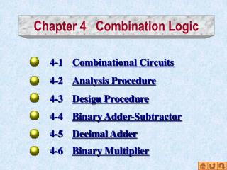 Chapter 4   Combination Logic