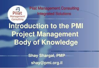 Pilat Management Consulting Integrated Solutions