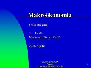 Makroökonomia