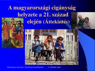 A magyarországi cigányság    helyzete a 21. század elején  (Áttekintés)