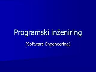 Programski inženiring