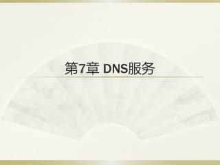 第 7 章  DNS 服务