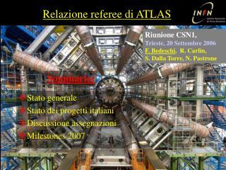 Relazione referee di ATLAS