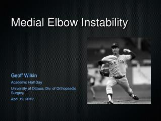 Medial Elbow Instability