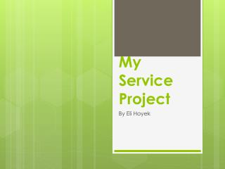 My Service Project
