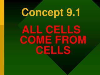 Concept 9.1
