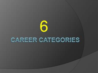 Career categories