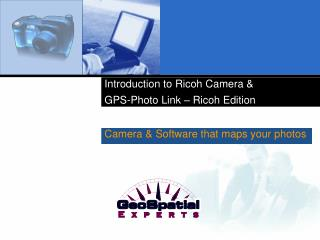 Introduction to Ricoh Camera   GPS-Photo Link   Ricoh Edition