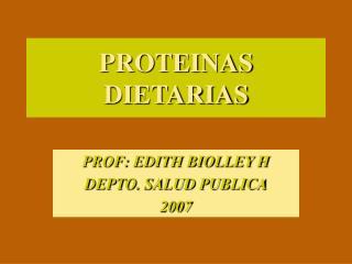 PROTEINAS DIETARIAS