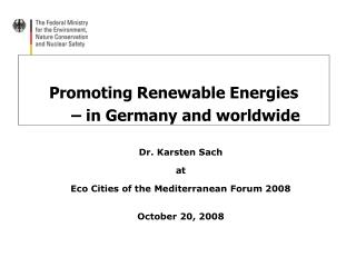 Promoting Renewable Energies  – in Germany and worldwide