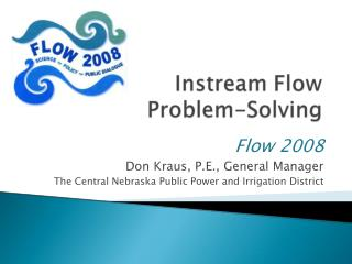 Instream Flow Problem-Solving