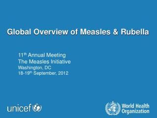 Global Overview of Measles & Rubella