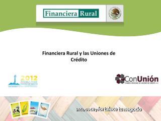 Financiera Rural y las Uniones de Cr�dito