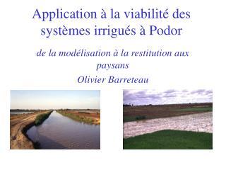 Application à la viabilité des systèmes irrigués à Podor