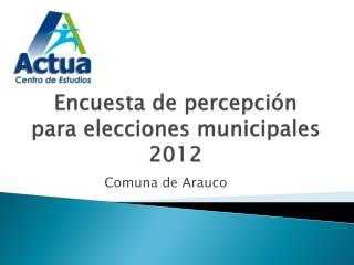 Encuesta de percepci�n para elecciones municipales 2012