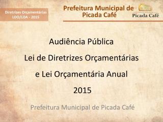 Audiência Pública Lei de Diretrizes Orçamentárias e Lei Orçamentária Anual  2015