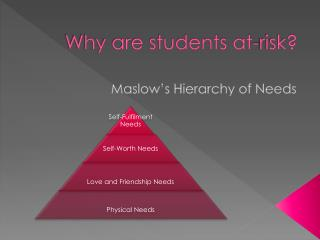 Why are students at-risk?