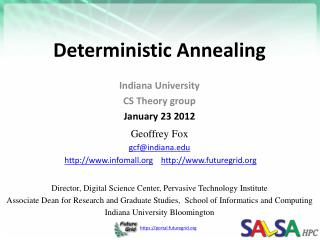 Deterministic  Annealing