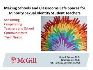 Making Schools and Classrooms Safe Spaces for Minority Sexual Identity Student  Teachers