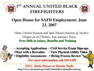 1 ST  ANNUAL UNITED BLACK FIREFIGHTERS