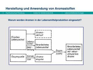 Herstellung und Anwendung von Aromastoffen
