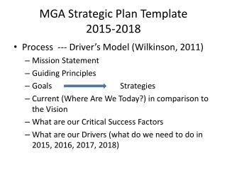 MGA Strategic Plan Template 2015-2018