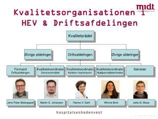 Kvalitetsorganisationen i  HEV & Driftsafdelingen