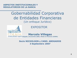 Gobernabilidad Corporativa  de Entidades Financieras Un enfoque Jur dico