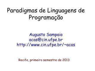Paradigmas de Linguagens de Programa  o