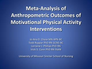 Meta-Analysis of Anthropometric Outcomes of Motivational Physical Activity Interventions