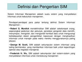 Definisi dan Pengertian SIM