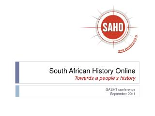 South African History Online  Towards a people's history