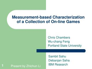 Measurement-based Characterization of a Collection of On-line Games