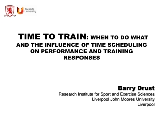 and Exercise Sciences