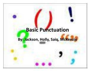 Basic Punctuation