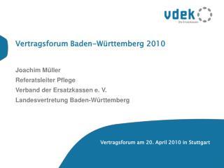 Vertragsforum Baden-Württemberg 2010