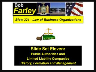Slide Set  Eleven : Public Authorities and Limited Liability Companies