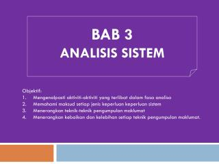 BAB 3 ANALISIS SISTEM
