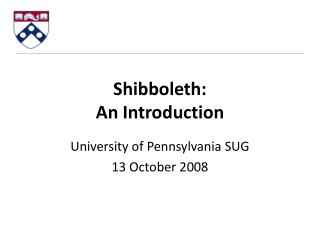 Shibboleth: An Introduction