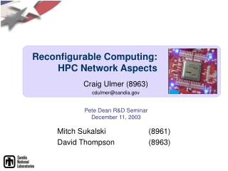 Reconfigurable Computing:  HPC Network Aspects