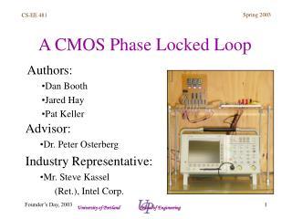 A CMOS Phase Locked Loop